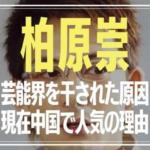 柏原崇 今現在 干された原因 中国で人気の理由