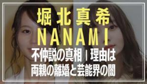 堀北真希とNANAMIの姉妹不仲説の真相|理由原因は両親の離婚と芸能界の闇?