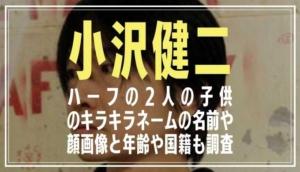 小沢健二/エリザベスコールのハーフの子供の名前や顔画像は?年齢や国籍も調査
